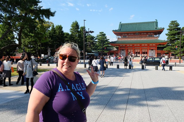 Claire at Heian Shrine