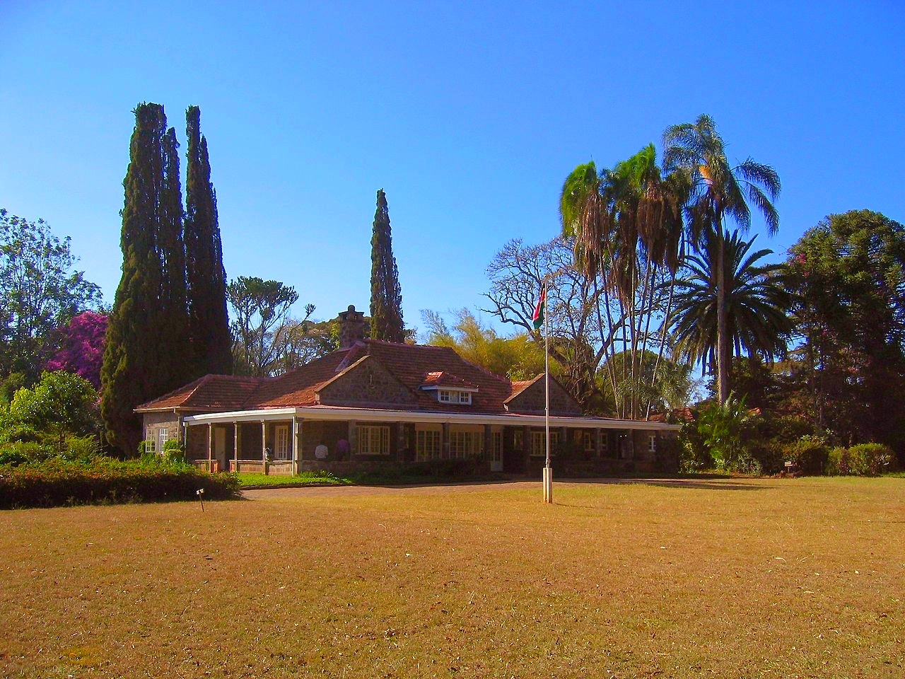 "Karen Blixen's farm near Nairobi, Kenya ""at the foot of the Ngong Hills"