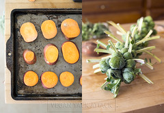 Sweet Potatoes // Brussels Sprouts