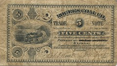 Rogers Coal Company 5 cents face