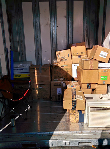 5 The pile of boxes gets a little smaller