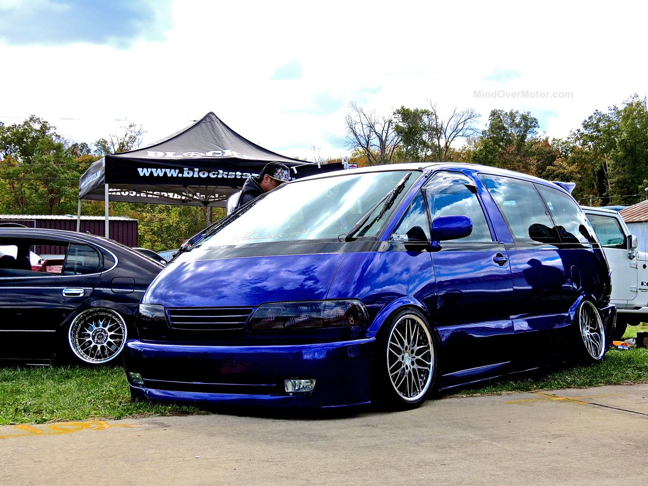 Stanced Toyota Previa Minivan First Class Fitment