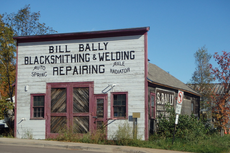 false front of Bill Bally Blacksmith & Welding Repairing shop