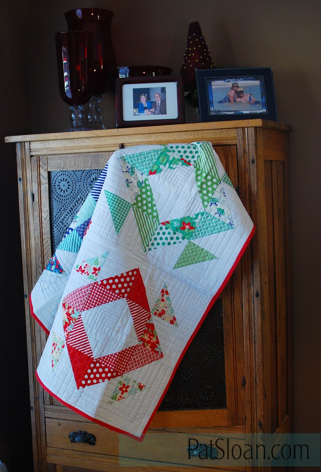 Pat Sloan Triangle book Boden quilt 1