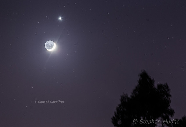 Comet Catalina Moon Venus v2 labelled