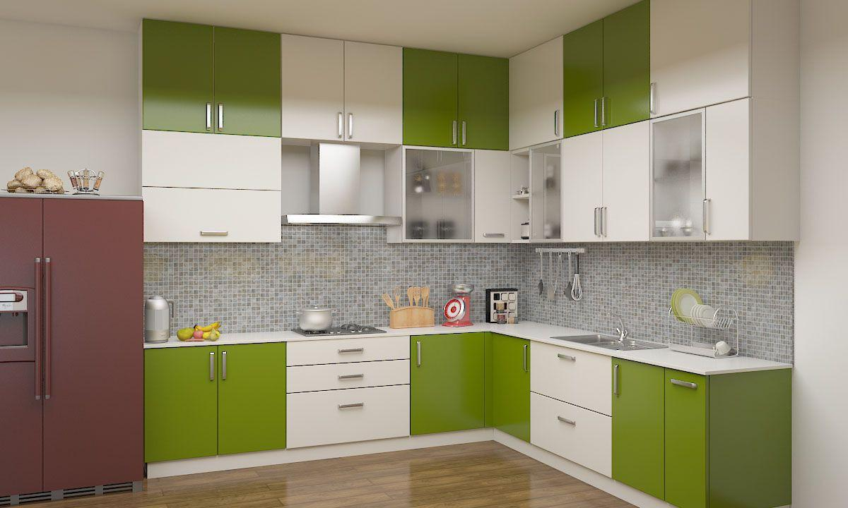 Modular kitchen cabinets obviously a smart option pink and pink Indian kitchen design picture gallery