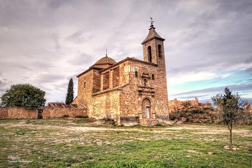 Iglesia de Sant Joan Degollat (San Juan Degollado). El Mas del Llaurador (Comarca del Matarranya). Teruel