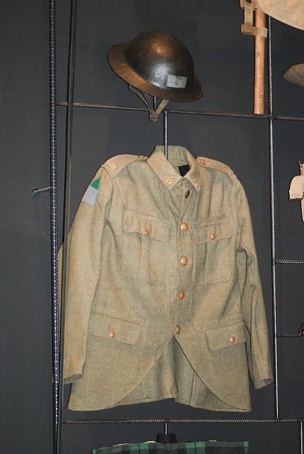 WWI British jacket and helmet