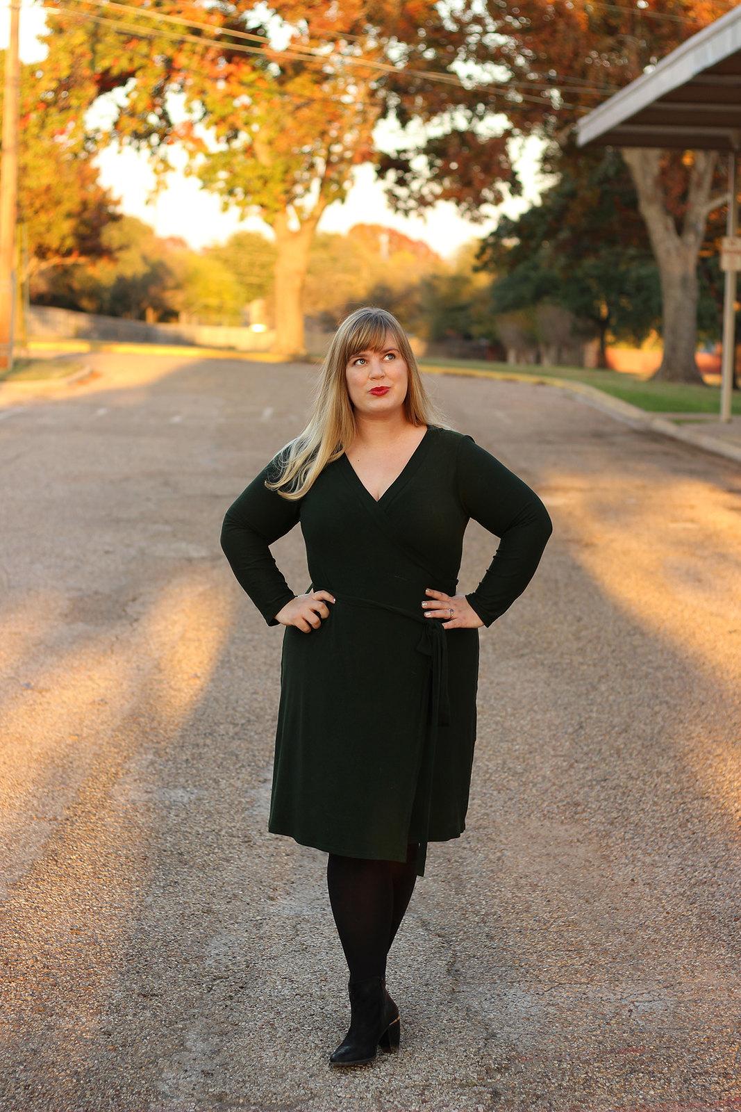 Idle Fancy - Cashmerette Appleton Dress - Green Wool Jersey-1095