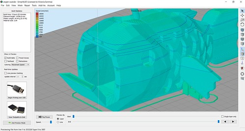 3D Printing - Anglerfish - Different Starting Points in Simplify3d