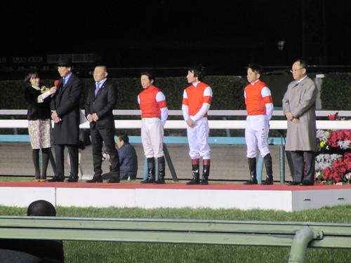 中山競馬場でのゴールドシップ引退式