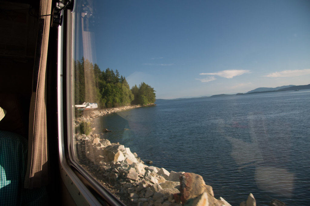 View from Amtrak Cascades Line | Vancouver to Seattle