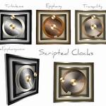 Scripted Modern Clocks 3D Models