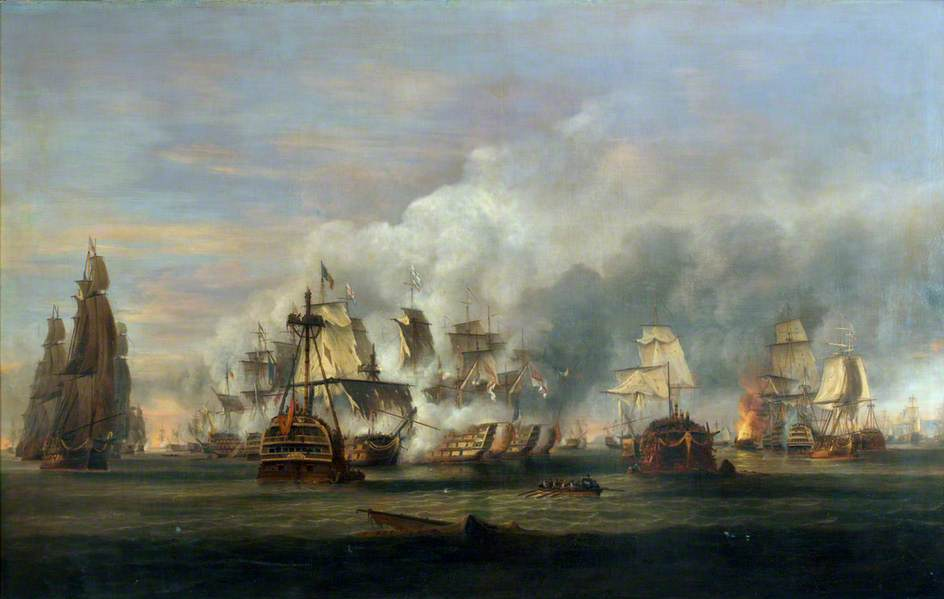 The Battle of Trafalgar, 21 October 1805 by Thomas Luny, 1810