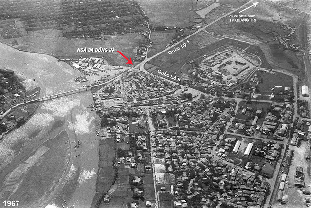 Ngã ba Đông Hà, tỉnh Quảng Trị, 1967 - Không ảnh thị trấn Đông Hà