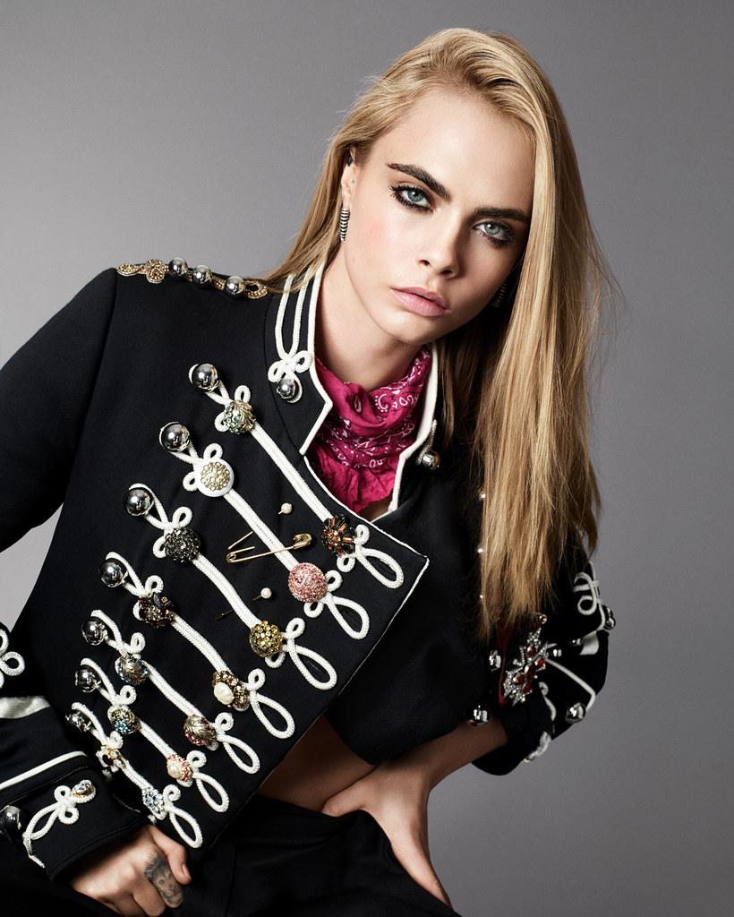 Кара Делевинь — Фотосессия для «Elle» 2016 – 7
