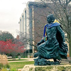 Thank you to the Good Samaritan who bundled up @fathermarquette! #WeAreMarquette