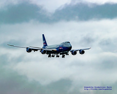 VQ-BBM, A 747-8F, Sliding Into Paine Field Against Overcast