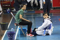Echa with coach Riga