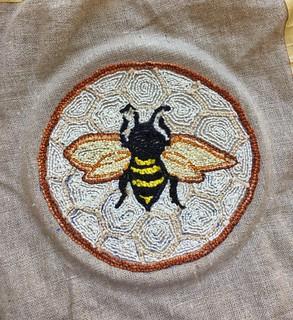 Needlepunch embroidery bee