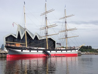 Tall ship, Riverside Museum, Glasgow