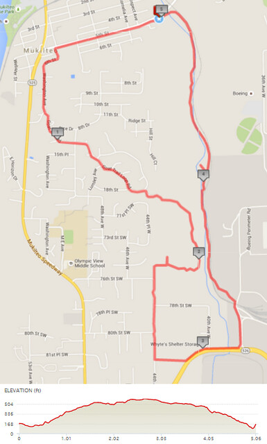 Today's awesome walk, 5.06 miles in 1:40, 10,876 steps, 487ft gain