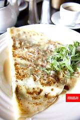 Salty Pancake With Prosciutto & Arugula