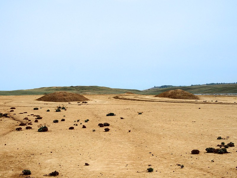 Mud volcanoes in Bulganaq. Kerch, Crimea, Ukraine