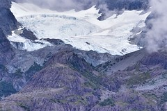 a glacier that forms on a mountain