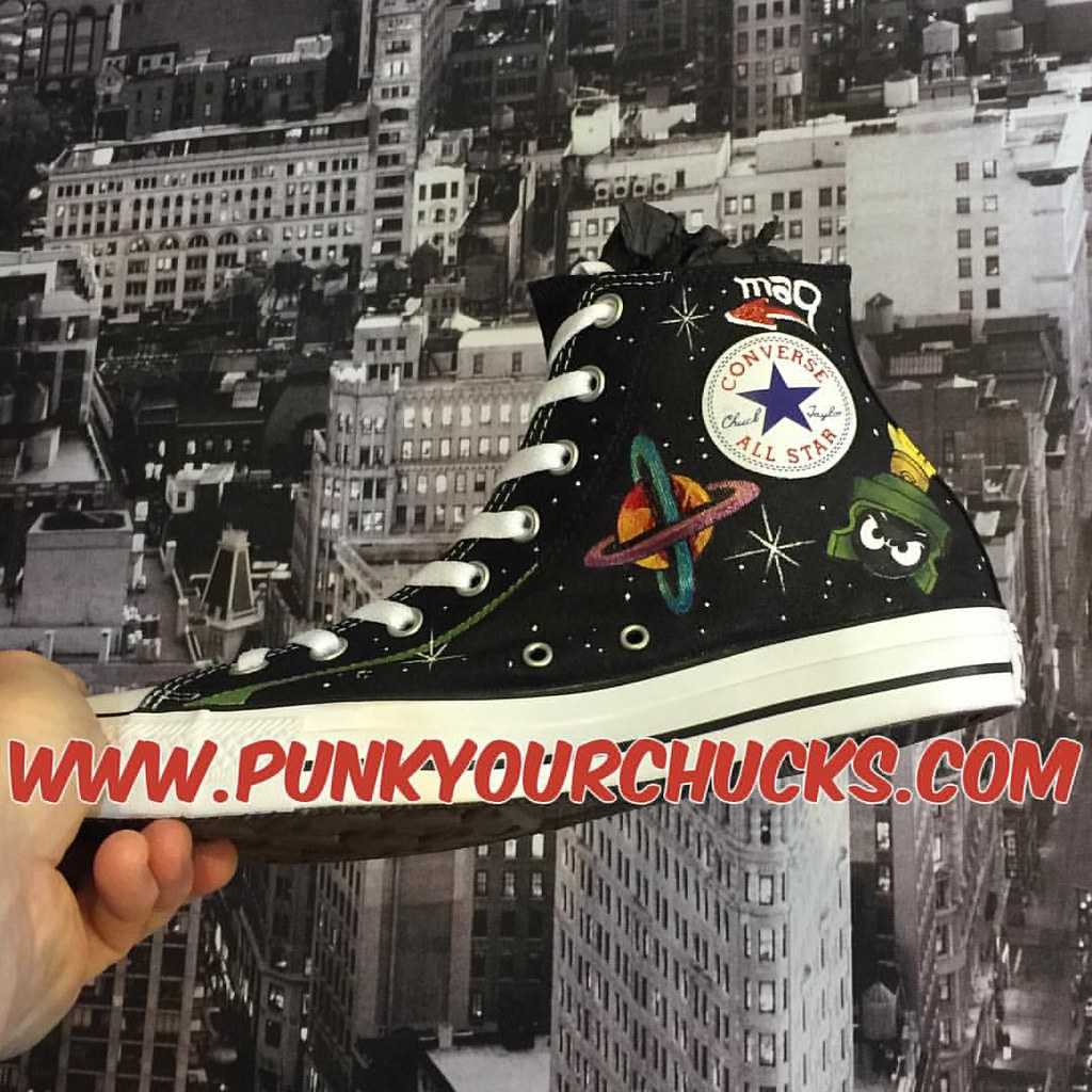 dd9974449cd2 Custom Marvin the Martian Chuck Taylors by MAG from Punk Your Chucks!