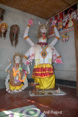 Bor Mukha full body mask, The Narshimah avtar of lord Vishnoo Shamagauri Satra, Majuli