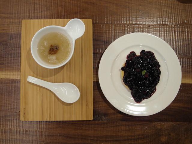 有機藍莓鬆餅(單片)+雪耳露@棉花田有機餐廳