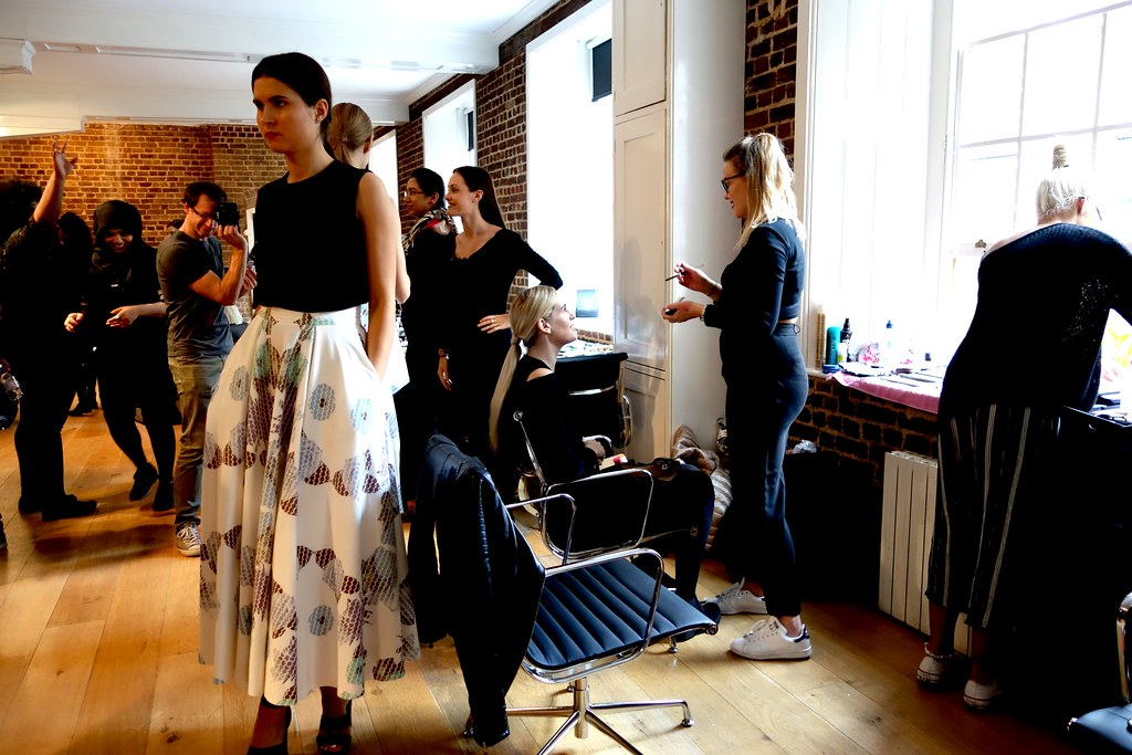 Backstage, London Fashion Week SS16, Oxford Fashion Studios
