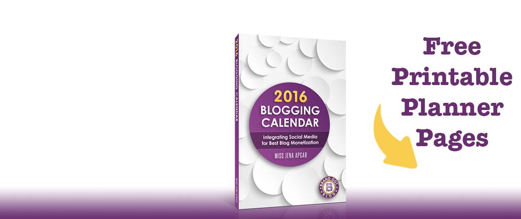 2016 Blogging and Social Media Planner
