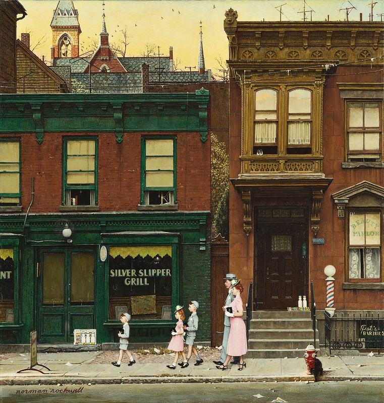 Norman Rockwell - Walking to Church (1952)