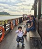 Joon's first time on a boat. Slightly overdressed :rowboat: #나주 #영산강 #Naju #Yeongsan #River
