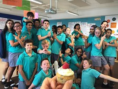 This year's #7Pgu hams and our second bday quick pic! Happy birthday @aanekee ! #TGIF #uwcsea_east #surprise #cupcakes