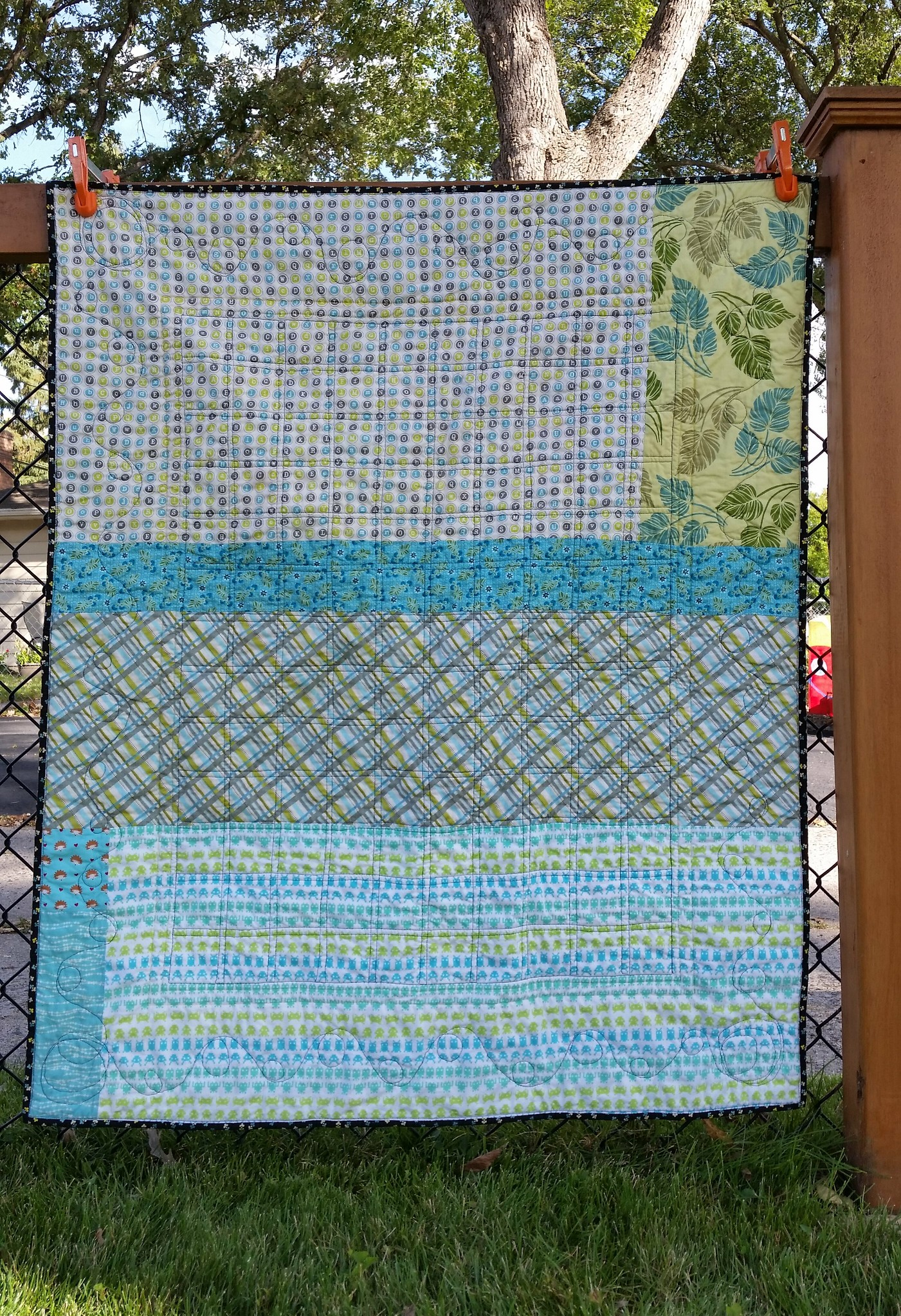 Back of the I-Spy quilt
