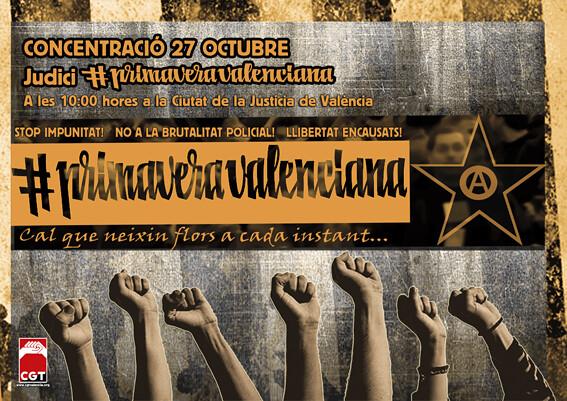 27 d´Octubre: Judici a la #PrimaveraValenciana, a València