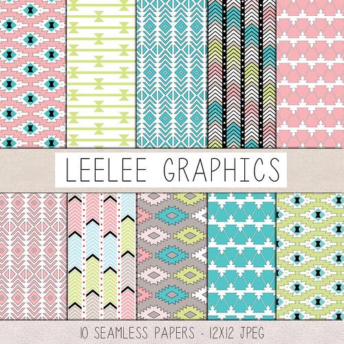 LeeLee Graphics - Pastel Tribals Texture Pack