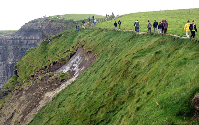 Cliff Collapse of the Unstable Ground on the Cliffs of Moher