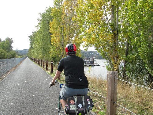 Beth on the Springwater Corridor Trail