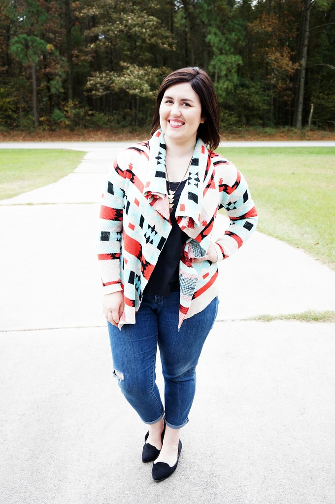 Shein Aztec Colorful Cardigan 2