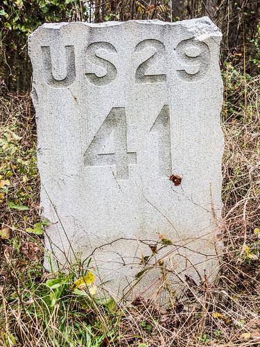 U.S. 29 milestone 41 - 2