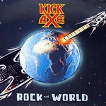 "KICK AXE ROCK THE WORLD ROADRUNNER 12"" Vinyl LP"