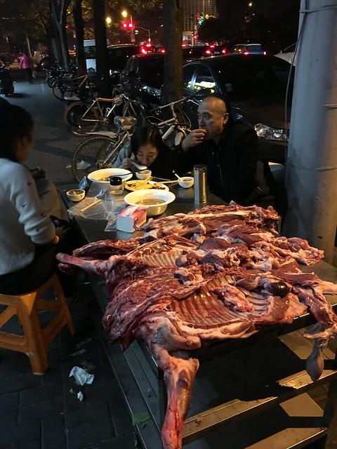 Street meat...