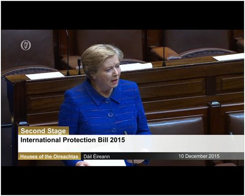 Minister Fitzgerald speaks in the Dáil as the International Protection Bill 2015 reaches second stage