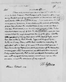 Jefferson letter to Pollock
