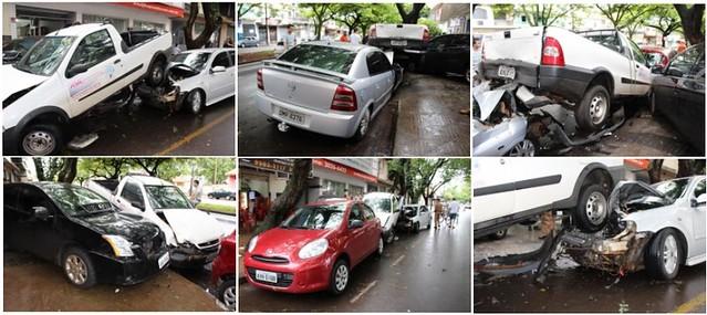 acidente carros estacionados