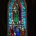 Stained Glass Window in Hallgrímskirkja Church by Colorado Sands